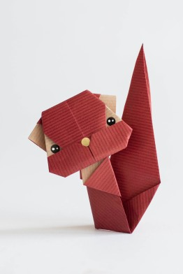 origami red squirrel (2)